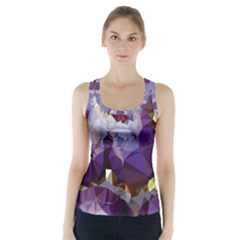 Purple Abstract Geometric Dream Racer Back Sports Top