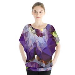 Purple Abstract Geometric Dream Blouse