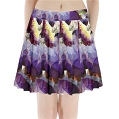 Purple Abstract Geometric Dream Pleated Mini Skirt