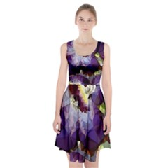 Purple Abstract Geometric Dream Racerback Midi Dress
