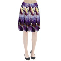 Purple Abstract Geometric Dream Pleated Skirt