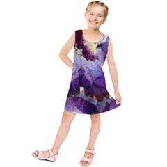 Purple Abstract Geometric Dream Kids  Tunic Dress