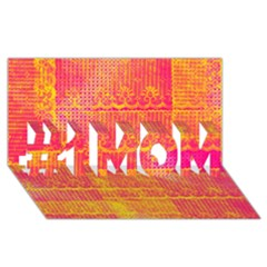 Yello And Magenta Lace Texture #1 Mom 3d Greeting Cards (8x4)