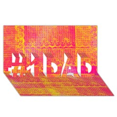 Yello And Magenta Lace Texture #1 Dad 3d Greeting Card (8x4)