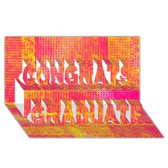 Yello And Magenta Lace Texture Congrats Graduate 3d Greeting Card (8x4)