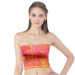 Yello And Magenta Lace Texture Tube Top