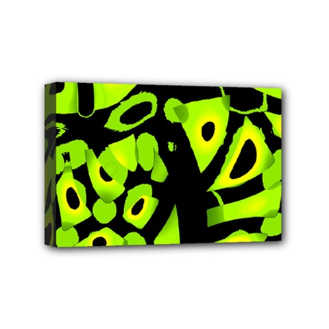 Green neon abstraction Mini Canvas 6  x 4