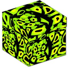 Green neon abstraction Storage Stool 12