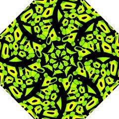 Green neon abstraction Golf Umbrellas