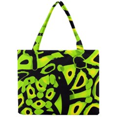 Green neon abstraction Mini Tote Bag