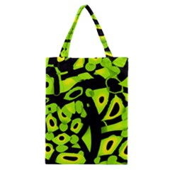 Green neon abstraction Classic Tote Bag
