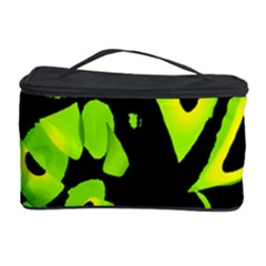 Green neon abstraction Cosmetic Storage Case