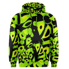 Green neon abstraction Men s Pullover Hoodie