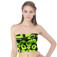 Green neon abstraction Tube Top