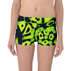Green neon abstraction Boyleg Bikini Bottoms