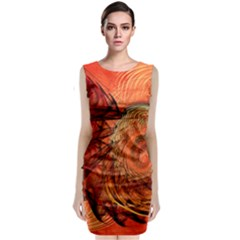 Nautilus Shell Abstract Fractal Classic Sleeveless Midi Dress