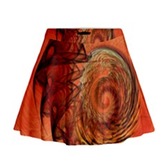 Nautilus Shell Abstract Fractal Mini Flare Skirt