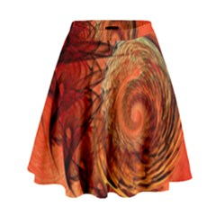 Nautilus Shell Abstract Fractal High Waist Skirt