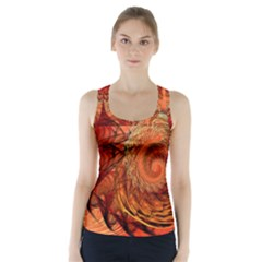Nautilus Shell Abstract Fractal Racer Back Sports Top