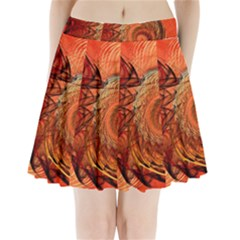 Nautilus Shell Abstract Fractal Pleated Mini Skirt