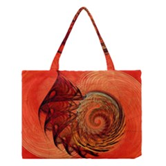 Nautilus Shell Abstract Fractal Medium Tote Bag