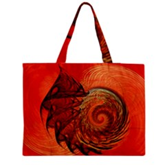 Nautilus Shell Abstract Fractal Medium Zipper Tote Bag