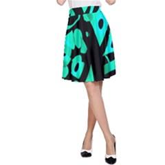 Cyan design A-Line Skirt