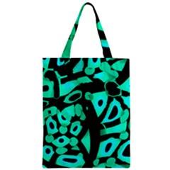 Cyan design Zipper Classic Tote Bag