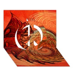 Nautilus Shell Abstract Fractal Peace Sign 3d Greeting Card (7x5)