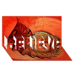 Nautilus Shell Abstract Fractal Believe 3d Greeting Card (8x4)
