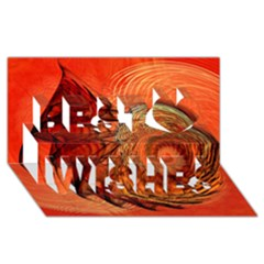 Nautilus Shell Abstract Fractal Best Wish 3d Greeting Card (8x4)