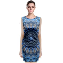 Feel Blue Mandala Classic Sleeveless Midi Dress