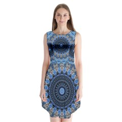 Feel Blue Mandala Sleeveless Chiffon Dress