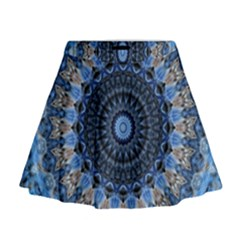 Feel Blue Mandala Mini Flare Skirt