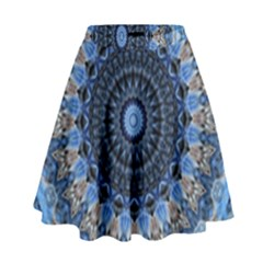 Feel Blue Mandala High Waist Skirt
