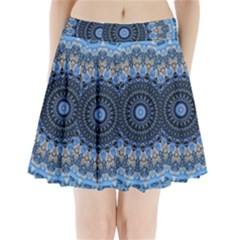 Feel Blue Mandala Pleated Mini Skirt