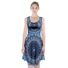 Feel Blue Mandala Racerback Midi Dress