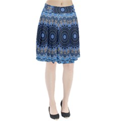 Feel Blue Mandala Pleated Skirt