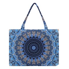 Feel Blue Mandala Medium Tote Bag