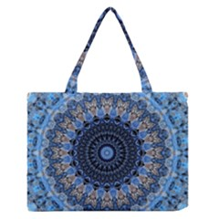 Feel Blue Mandala Medium Zipper Tote Bag
