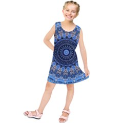 Feel Blue Mandala Kids  Tunic Dress