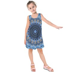 Feel Blue Mandala Kids  Sleeveless Dress