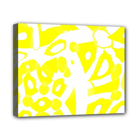 yellow sunny design Canvas 10  x 8