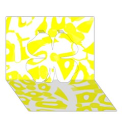 yellow sunny design Clover 3D Greeting Card (7x5)