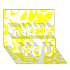 yellow sunny design THANK YOU 3D Greeting Card (7x5)