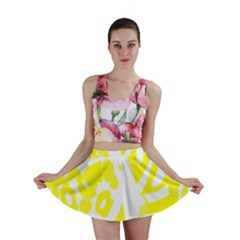 yellow sunny design Mini Skirt