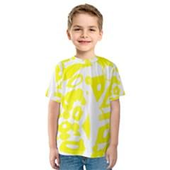 yellow sunny design Kids  Sport Mesh Tee