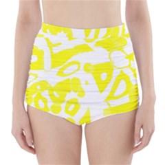 Yellow Sunny Design High Waisted Bikini Bottoms