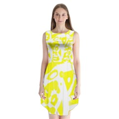 Yellow Sunny Design Sleeveless Chiffon Dress