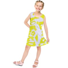 yellow sunny design Kids  Tunic Dress